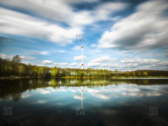 Environmentally friendly energy, wind turbine, Germany