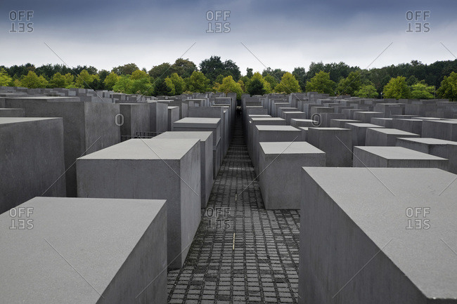 Berlin, Germany - September 10, 2015: Memorial to the Murdered Jews of Europe