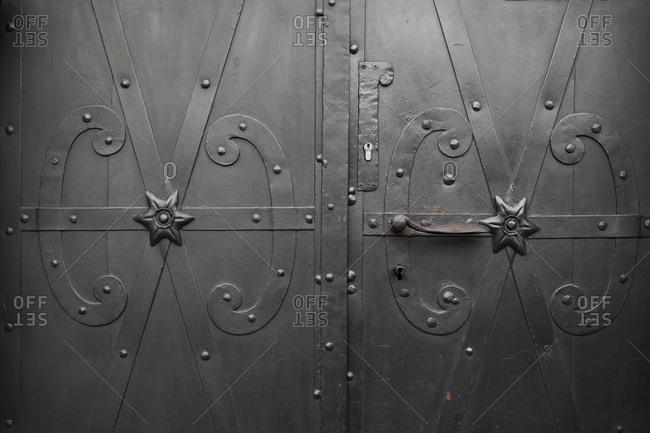 Detail of Door, Stare Miasto, Warsaw, Poland