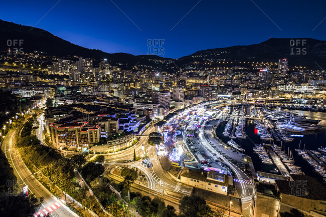 Looking over Monte Carlo at night