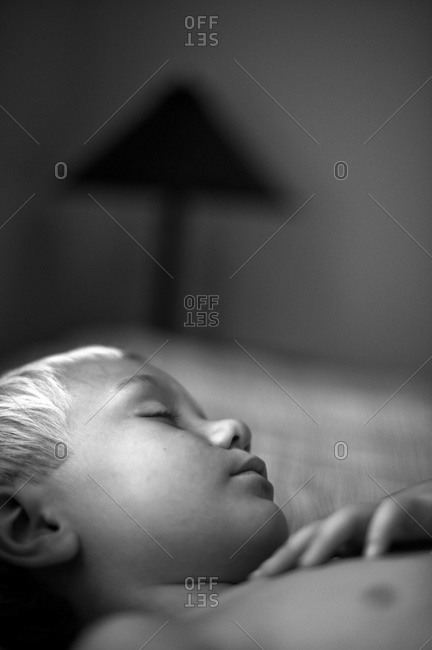 Portrait of a boy sleeping