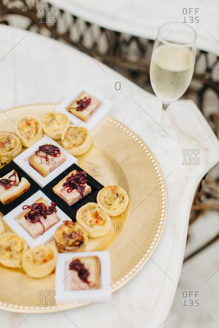 Hors doeuvres for a wedding