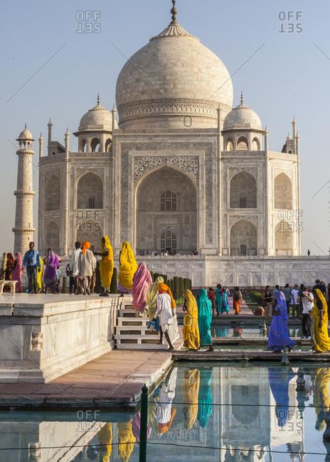 Agra, India - September 9, 2015: The Taj Mahal in Agra, India