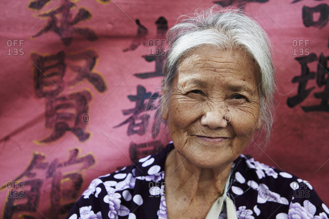 An elderly Chinese fortune teller