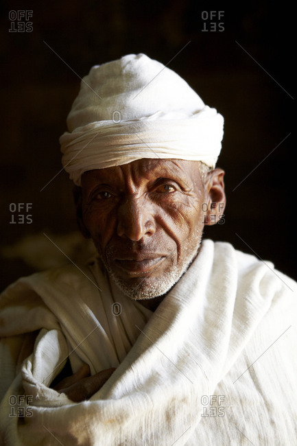 Portrait of an elderly Ethiopian man