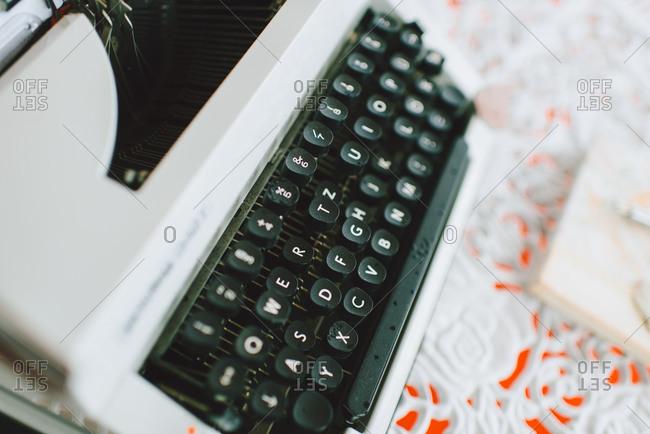 A European typewriter