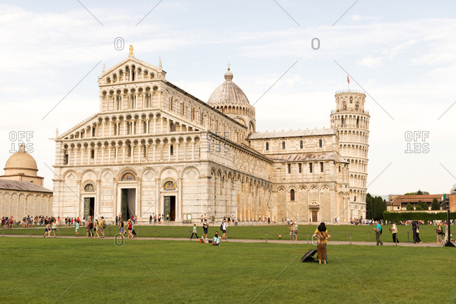 Duomo de Pisa and Leaning Tower of Pisa, Piazza dei Miracoli, Pisa, Tuscany, Italy