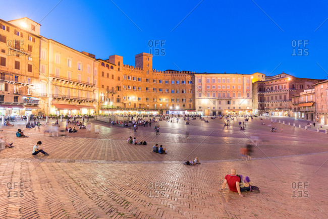 The Piazza del Campo in Siena, Tuscany, Italy
