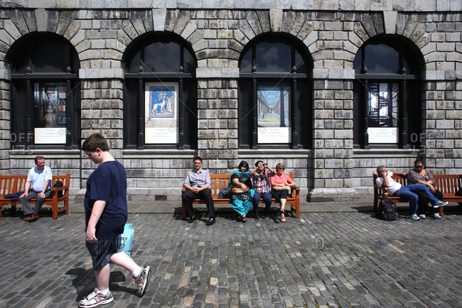 Dublin, Ireland - July 5, 2012: Street scene in Dublin, Ireland