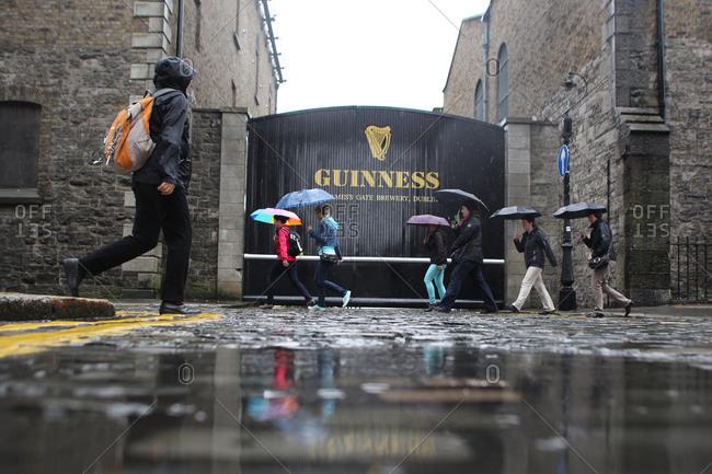 Dublin, Ireland - July 6, 2012: Guinness Storehouse Brewery, St. James's Gate, Dublin, Ireland