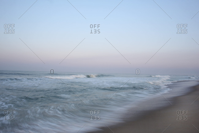 Beach Scene In The Early Morning At Cisco Nantucket Island Machusetts Stock Photo Offset