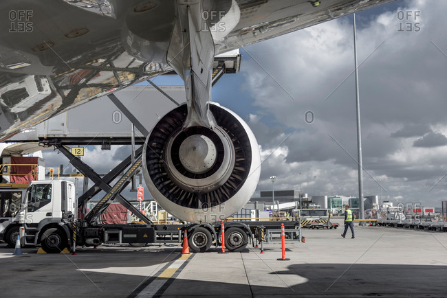 an jet aircraft at an airport