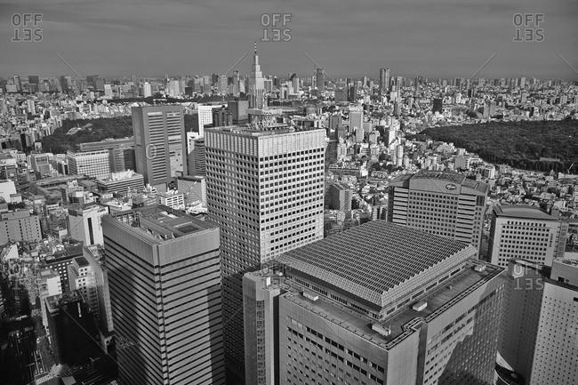 Tokyo city bird's eye view