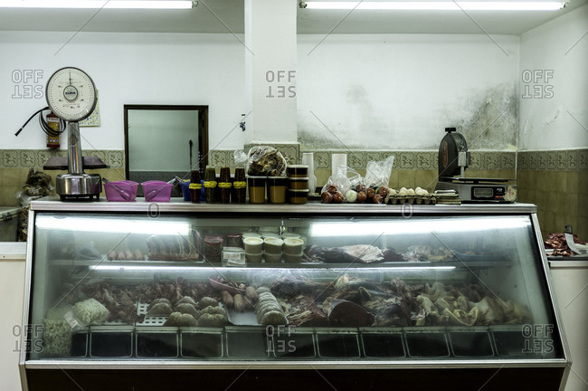 Barra De Navidad, Mexico - February 14, 2016: A deli counter in Mexico