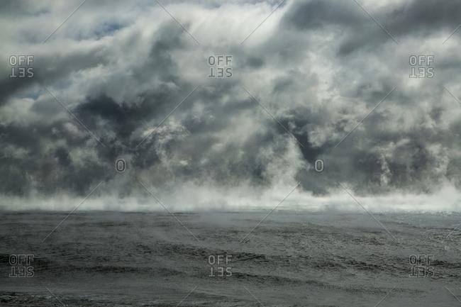 Mist over an oceanscape