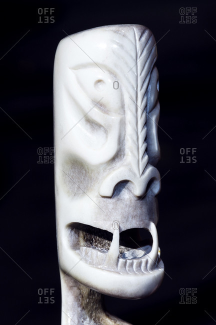A tupilak carving from a caribou antler is used to summon a spirit to fight an enemy