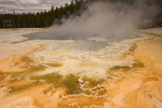 Solitary Geyser in the Old Faithful geyser area of Yellowstone National Park, Wyoming