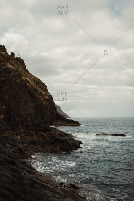 The rocky Tenerife coastline