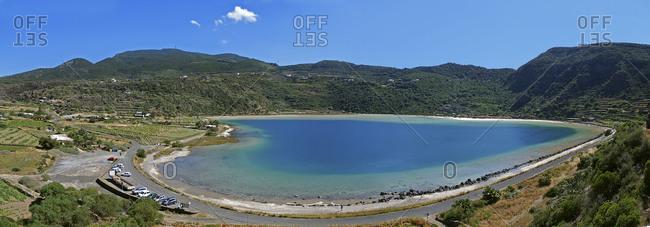A pristine lake among mountains