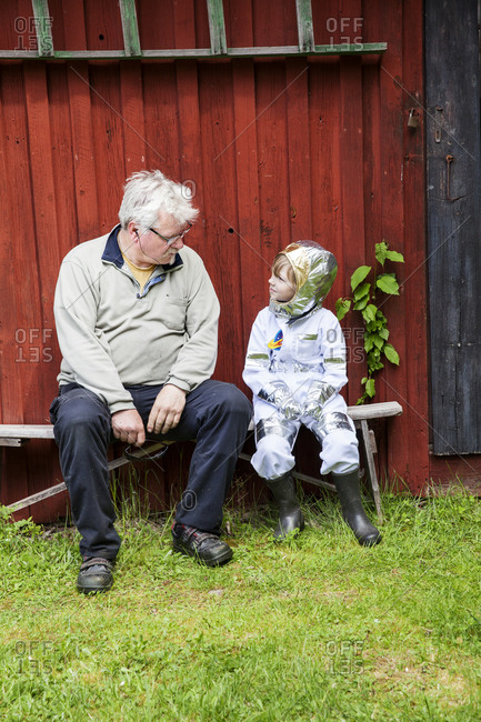 Boy with grandfather