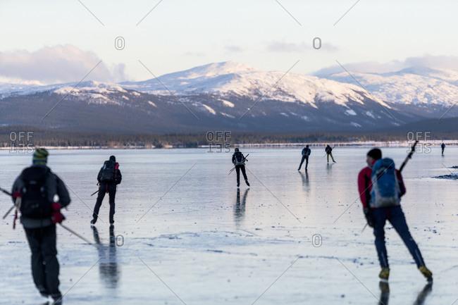 People skating on ice