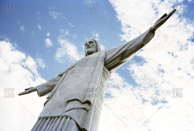 Low angle view of statue of Jesus Christ