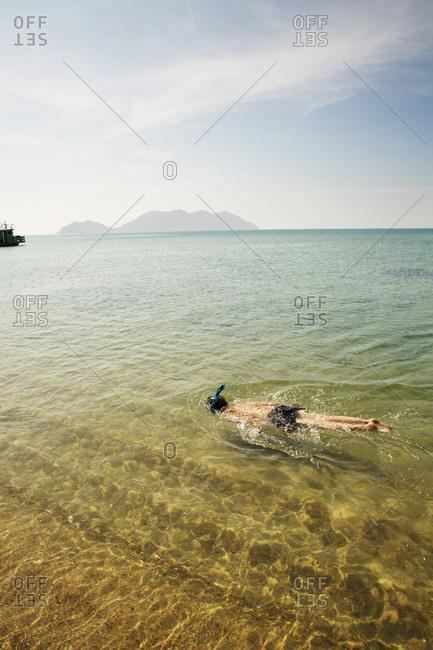 Snorkeling in tropic waters