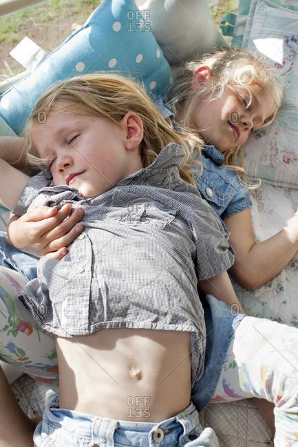 Two girls sleeping
