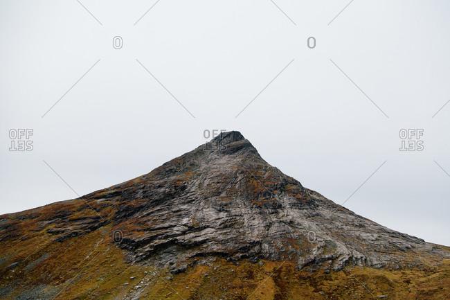 Rocky peak in Norway