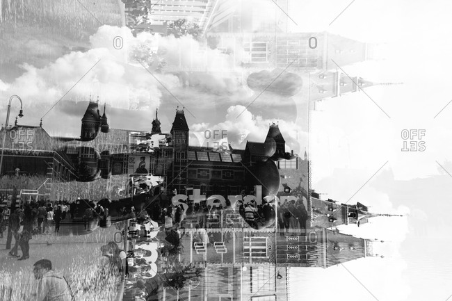 Multiple exposure of an Amsterdam cityscape