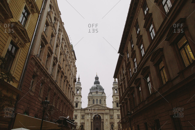A view of St. Stephen's Basilica in Budapest, Hungary