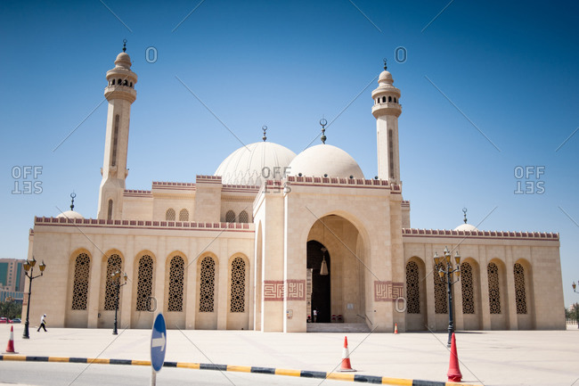 Exterior of the Al Fateh Grand Mosque in Bahrain