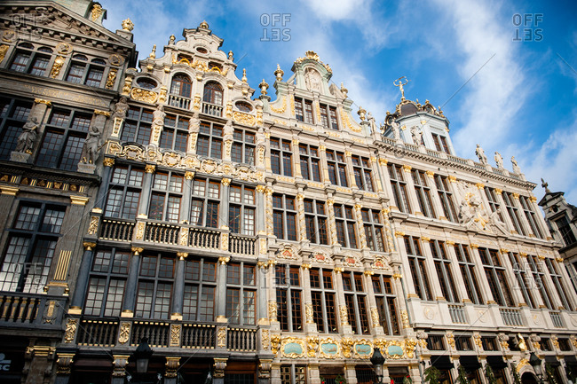 Architecture along the Grand Place in Brussels, Belgium
