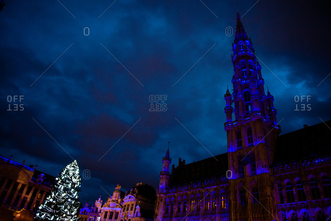 Brussels Town Hall in the Grand Place in Brussels, Belgium