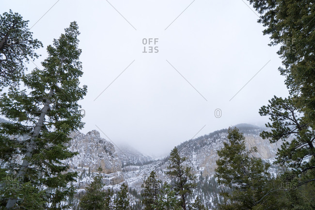 Mountains with light snow, Mount Charleston, Nevada