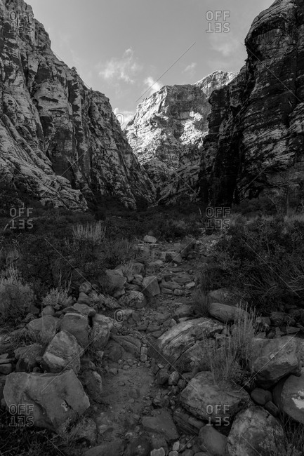Trail in canyon at Red Rock Canyon National Conservation Area