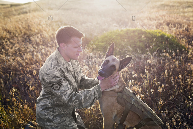 Air Force Staff Sergeant and his Military Working Dog