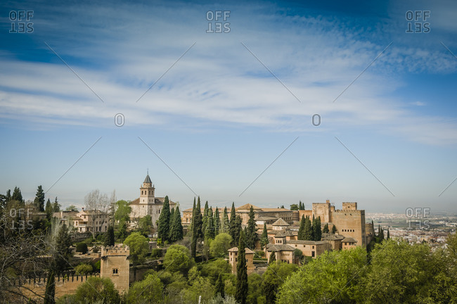 Alhambra Castle and fortress in Andalusia, Spain