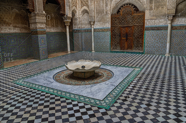 Meknes, Morocco - December 6, 2015:  Mausoleum of Moulay Ismail
