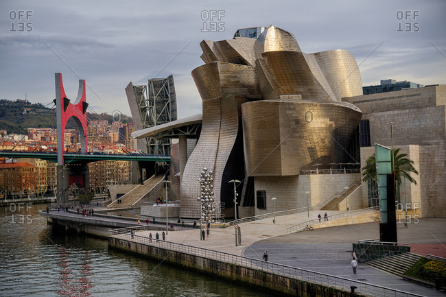 Bilbao, Spain - December 23, 2015: Guggenheim Museum