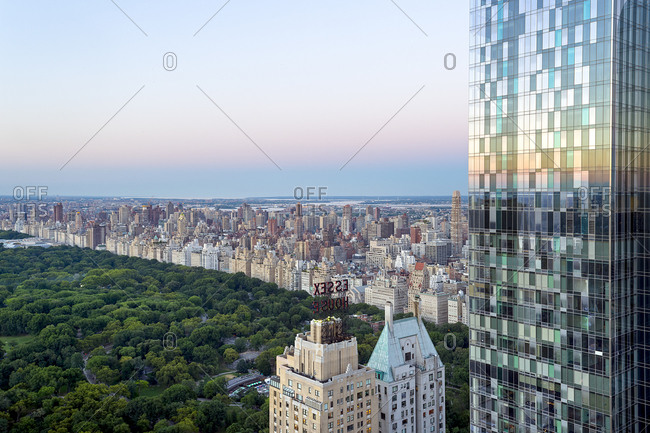 Expensive real estate overlooking Central Park, New York City