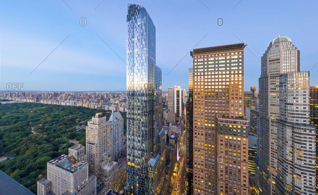Luxury High Rise Apartment Buildings Near Central Park Manhattan Stock Photo Offset