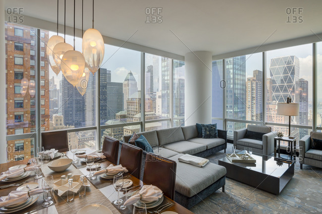 New York, NY - July 27, 2015: Interior of luxury apartment ...