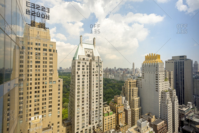 Skyscrapers in Midtown Manhattan overlooking Central Park