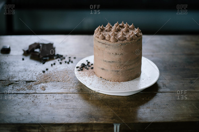 Five layer chocolate cake
