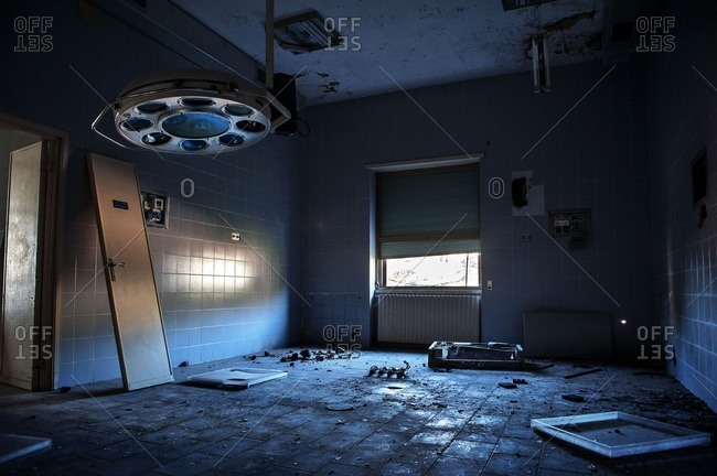 Operating room in abandoned hospital