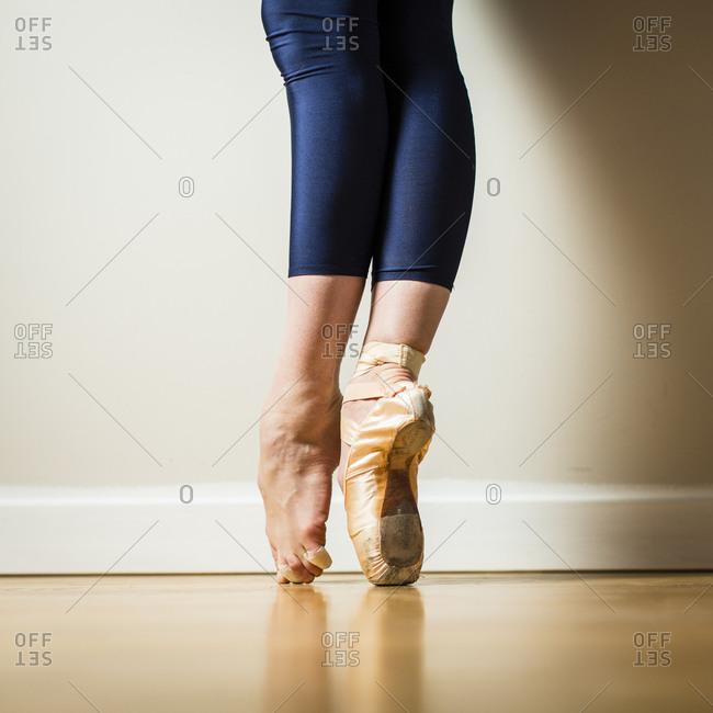 Ballerina standing on her tip toes