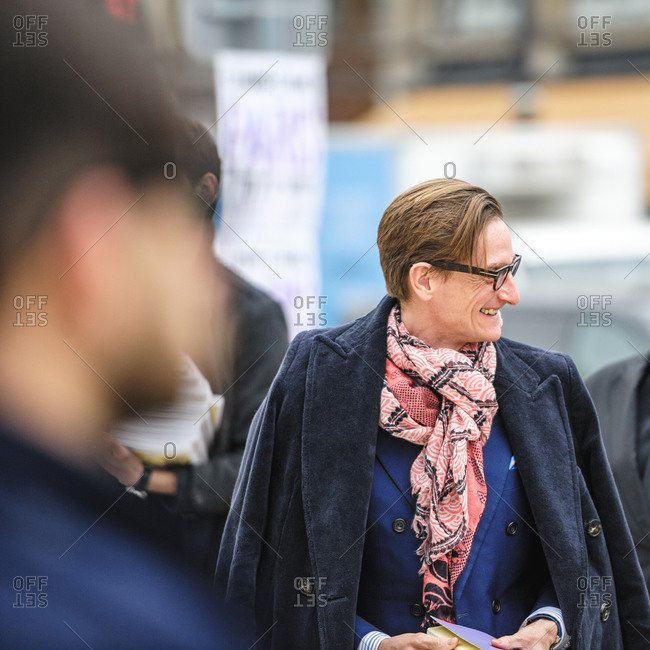 Paris, France - March 6, 2013: Fashion Editor Hamish Bowles at Paris Women's Fashion Week