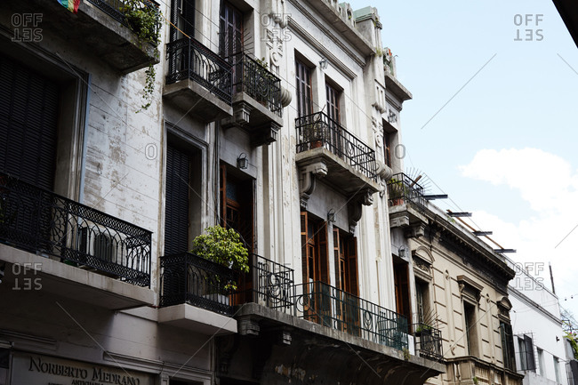 Apartments with balconies in Buenos Aires, Argentina