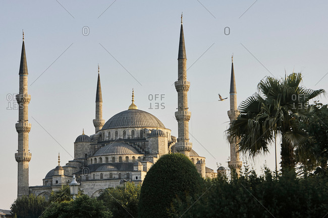 Dome and minarets of Sultan Ahmed Mosque, Istanbul, Turkey